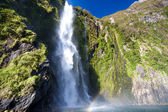 Milford sound Waterfall — Stock Photo