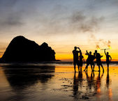 Fun at Piha beach — Stock Photo