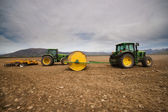 Tractors on the Field — Stock Photo