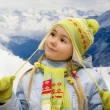 Little girl in mountains — Stock Photo #1559314