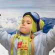 Stock Photo: Little girl in mountains
