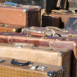 Old fashioned suitcases - Stock Photo