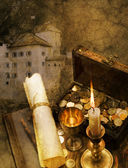 Buried treasure — Stock Photo
