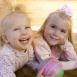 Stock Photo: Two little girls i