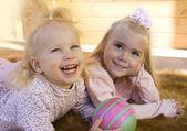 Two little girls i — Stock Photo