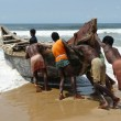 Indian fishermen - Stock Photo