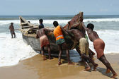 Indian fishermen — Stock Photo