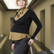 Pregnant woman traveling — Stock Photo