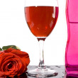 Red wine and rose — Stock Photo #2267754