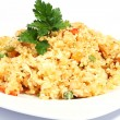 Rice with vegetables and chicken — Foto de Stock