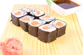 Maki sushi with salmon — Stock Photo