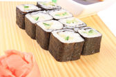 Maki sushi with cucumber — Stock Photo