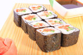 Maki sushi with vegetables — Stock Photo