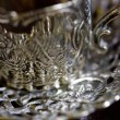 Russian antique silverware — Stock Photo
