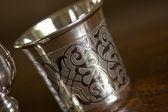 Russian antique silverware — Stock Photo