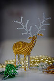 African Craft Christmas Reindeer — Stock Photo