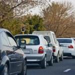 spitsuur verkeerscongestie — Stockfoto