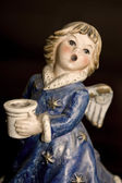 Blue Christmas Angel — Stock Photo