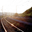 The railway on a decline — Stock Photo