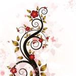floral fond grunge — Vecteur