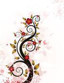 グランジ花の背景 — ストックベクタ