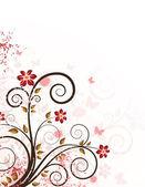 Grunge 花卉背景 — 图库矢量图片