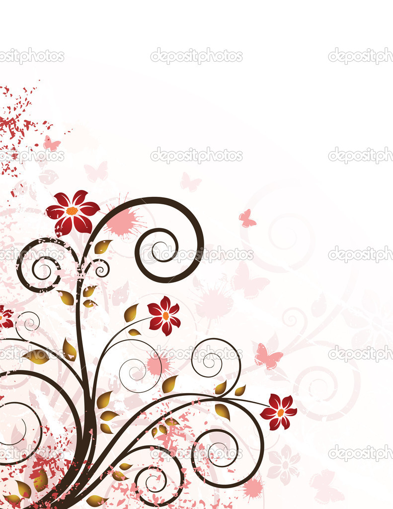 Grunge floral background — Stock Vector #1544063