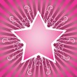 Stock Vector: Flower star design