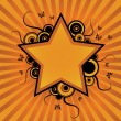 Vector de stock : Flower star design
