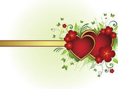 Floral heart — Vetorial Stock