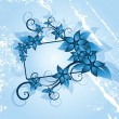 Winter floral frame — Vector de stock #1578843