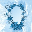 Vector de stock : Winter floral frame