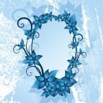 Winter floral frame — Stock Vector