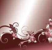 銀の花の背景 — ストックベクタ