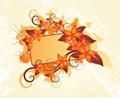 Autumn floral frame — Vecteur