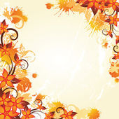 Autumn floral frame — Vector de stock
