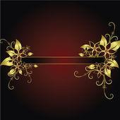 花のフレーム — ストックベクタ