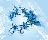 Winter floral frame — Vecteur