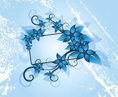 Zimní květinový rámeček — Stock vektor