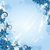 Cadre floral hiver — Vecteur