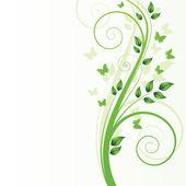 Albero magico primavera con farfalle — Vettoriale Stock