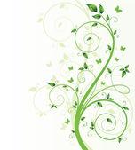 Arbre de printemps magique avec des papillons — Vecteur