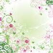 Vector de stock : Grunge floral background