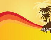Sommar ram med palmer — Stockvektor
