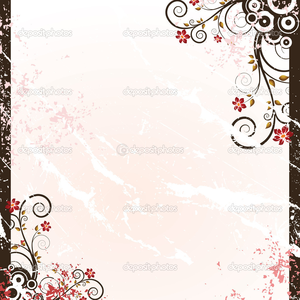 grunge floral background — Stock Vector #1923246