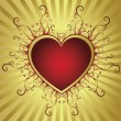 Heart golden frame — Vector de stock #2001003