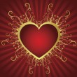 Royalty-Free Stock Vector Image: Heart golden frame