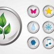Royalty-Free Stock Imagem Vetorial: Vector glossy buttons