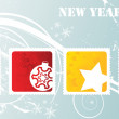 New year stamps — Image vectorielle