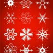 Set of vector snowflakes — ストックベクタ
